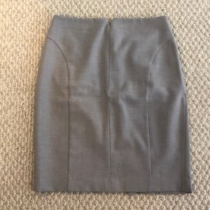 Express soft-gray pencil skirt